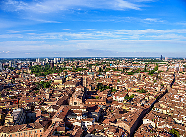 View from the Asinelli Tower, Bologna, Emilia-Romagna, Italy, Europe