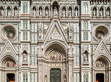 Santa Maria del Fiore Cathedral, detailed view, Florence, UNESCO World Heritage Site, Tuscany, Italy, Europe