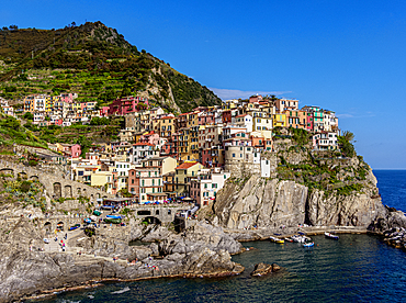 Manarola, Cinque Terre, UNESCO World Heritage Site, Liguria, Italy, Europe