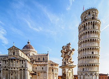 Cathedral and Leaning Tower, Piazza dei Miracoli, UNESCO World Heritage Site, Pisa, Tuscany, Italy, Europe