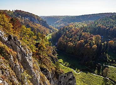 Autumn in Pradnik River Valley, Ojcow National Park, Krakow-Czestochowa Upland (Polish Jura), Lesser Poland Voivodeship, Poland, Europe