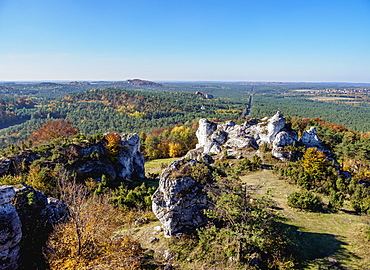 Mount Zborow in Podlesice, Krakow-Czestochowa Upland (Polish Jurassic Highland), Silesian Voivodeship, Poland, Europe