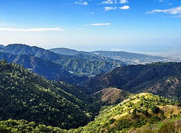 Landscape of Blue Mountains, Saint Andrew Parish, Jamaica, West Indies, Caribbean, Central America