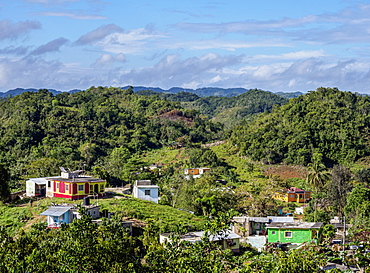 Nine Mile, Bob Marley's birthplace, elevated view, Saint Ann Parish, Jamaica, West Indies, Caribbean, Central America