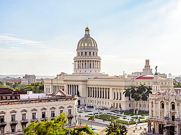 El Capitolio, elevated view, Havana, La Habana Province, Cuba, West Indies, Central America