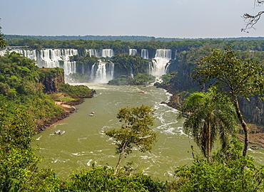 View of the Iguazu Falls, UNESCO World Heritage Site, Foz do Iguacu, State of Parana, Brazil, South America