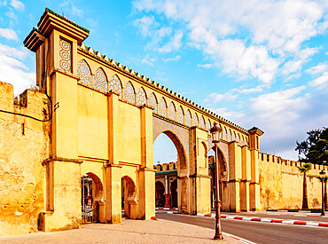 Moulay Ismail Mausoleum Gate, Meknes, Fez-Meknes Region, Morocco, North Africa, Africa