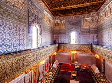 Mausoleum of Mohammed V, interior, Rabat, Rabat-Sale-Kenitra Region, Morocco, North Africa, Africa