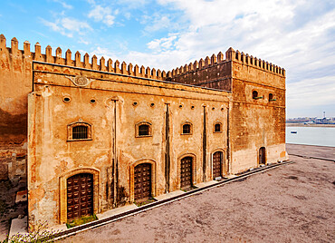 Defensive Walls of Kasbah of the Udayas, Rabat, Rabat-Sale-Kenitra Region, Morocco, North Africa, Africa