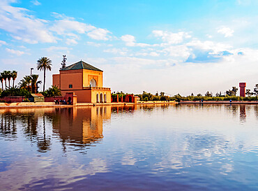 The pavilion in the Menara Gardens, Marrakesh, Marrakesh-Safi Region, Morocco, North Africa, Africa