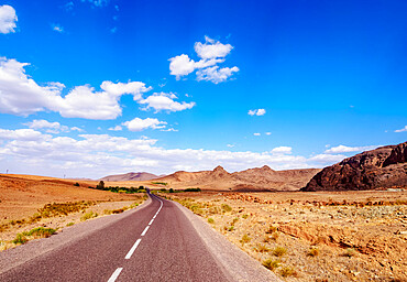 Desert Road in Draa-Tafilalet Region, Morocco, North Africa, Africa