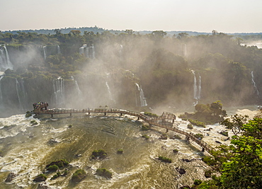 View of the Devil's Throat, part of Iguazu Falls, UNESCO World Heritage Site, Foz do Iguacu, State of Parana, Brazil, South America