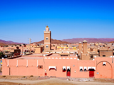 Townscape of Agdz (Agdez), Draa-Tafilalet Region, Morocco, North Africa, Africa