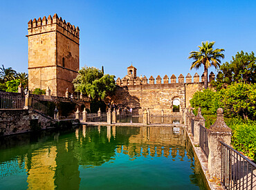 Gardens of Alcazar de los Reyes Cristianos (Alcazar of the Christian Monarchs), UNESCO World Heritage Site, Cordoba, Andalusia, Spain, Europe