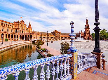 Plaza de Espana de Sevilla (Spain Square), Seville, Andalusia, Spain, Europe