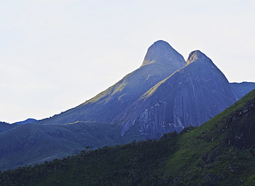 View of the mountains surrounding Petropolis, State of Rio de Janeiro, Brazil, South America