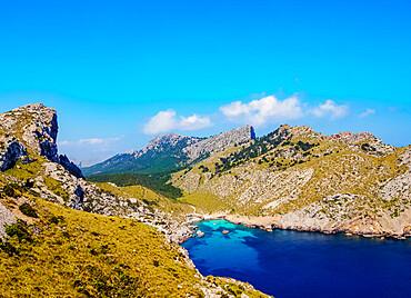 Landscape of the Formentor Peninsula, Cap de Formentor, Mallorca (Majorca), Balearic Islands, Spain, Mediterranean, Europe