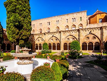 Cloister of the Santa Tecla Cathedral , Tarragona, Catalonia, Spain