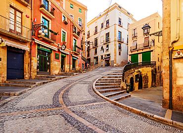 Street of the Old Town, Tarragona, Catalonia, Spain