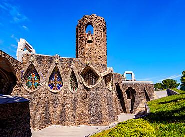 Unfinished Antoni Gaudi Church, Colonia Guell, Catalonia, Spain