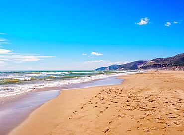 Beach in Castelldefels, a coastal town near Barcelona, Catalonia, Spain