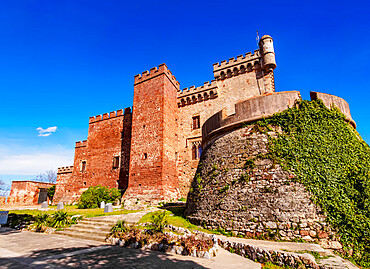 Castelldefels Castle, a frontier fortress in the town of Castelldefels, near Barcelona, Catalonia, Spain