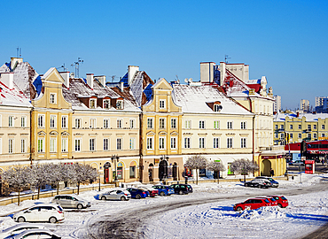 Old Town Houses at Castle Square, winter, Lublin, Lublin Voivodeship, Poland