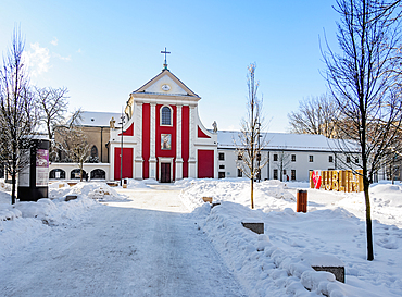 Church of St. Peter and Paul and Order of Friars Minor Capuchin, Lithuanian Square, winter, Lublin, Lublin Voivodeship, Poland