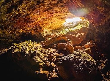 Ana Te Pahu Cave, Rapa Nui National Park, UNESCO World Heritage Site, Easter Island, Chile, South America