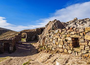 Chinkana Ruins, Island of the Sun, Titicaca Lake, La Paz Department, Bolivia, South America