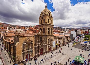 Basilica of San Francisco, elevated view, La Paz, Bolivia, South America