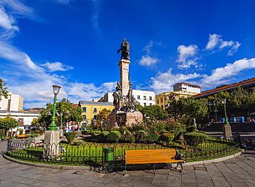 Pedro Domingo Murillo statue on Plaza Murillo, La Paz, Bolivia, South America