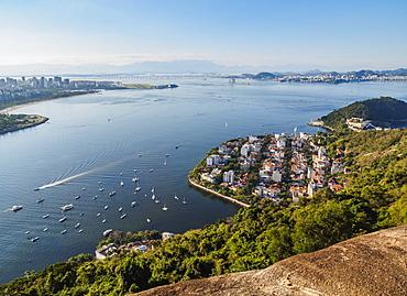 Urca Neighbourhood, elevated view, Rio de Janeiro, Brazil, South America