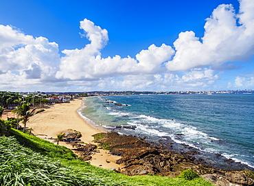 Boa Viagem Beach, elevated view, Salvador, State of Bahia, Brazil, South America