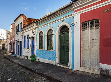 Colourful streets of Carmo, Historic Centre, UNESCO World Heritage Site, Salvador, State of Bahia, Brazil, South America