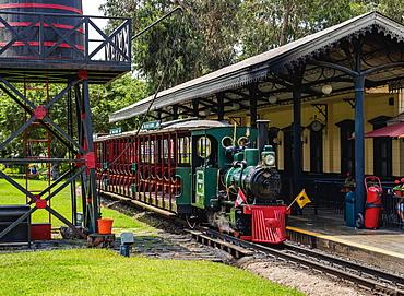 Train Station in Parque de la Amistad (Friendship Park), Santiago de Surco District, Lima, Peru, South America