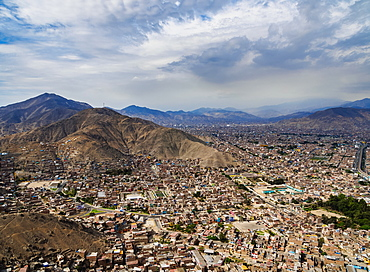 Cityscape seen from the San Cristobal Hill, Lima, Peru, South America