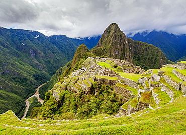 Machu Picchu Ruins, UNESCO World Heritage Site, Cusco Region, Peru, South America
