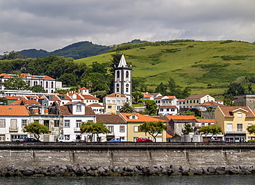 Horta skyline, Faial Island, Azores, Portugal, Atlantic, Europe