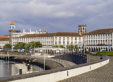 Port in Ponta Delgada, Sao Miguel Island, Azores, Portugal, Atlantic, Europe