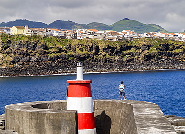 Port in Rabo de Peixe, Sao Miguel Island, Azores, Portugal, Atlantic, Europe