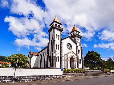 Church of Nossa Senhora da Alegria, Furnas, Sao Miguel Island, Azores, Portugal, Atlantic, Europe