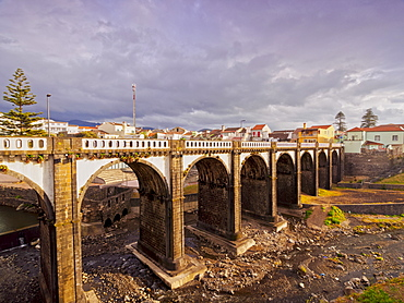 Old Bridge in Ribeira Grande, Sao Miguel Island, Azores, Portugal, Atlantic, Europe