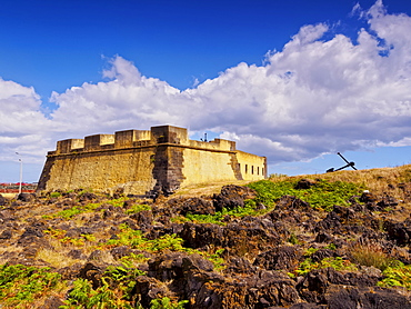 Fort of Santa Catarina, Praia da Vitoria, Terceira Island, Azores, Portugal, Atlantic, Europe