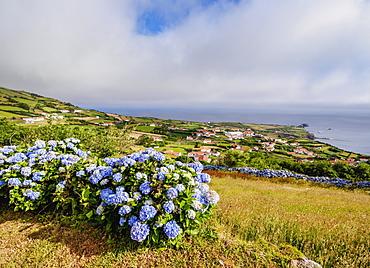 Ponta Delgada, elevated view, Flores Island, Azores, Portugal, Atlantic, Europe