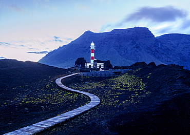 Faro de Teno, lighthouse, Punta de Teno, twilight, Tenerife Island, Canary Islands, Spain, Atlantic, Europe