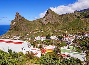 Taganana Village, elevated view, Anaga, Tenerife Island, Canary Islands, Spain, Atlantic, Europe