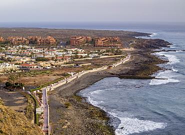 Palm-Mar, elevated view, Tenerife Island, Canary Islands, Spain, Atlantic, Europe