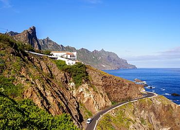 Coast with Roque de las Animas, Anaga Rural Park, Tenerife Island, Canary Islands, Spain, Atlantic, Europe
