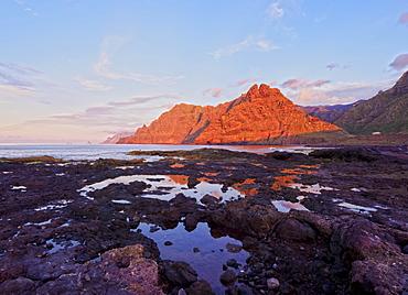 Coast and Anaga Mountains at sunset, Punta del Hidalgo, Tenerife Island, Canary Islands, Spain, Atlantic, Europe